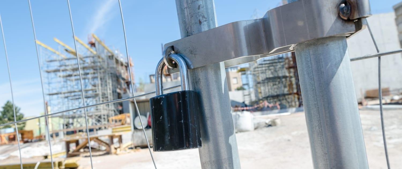 Bouwplaats- en bouwbeveiliging met WE Facility Solutions.